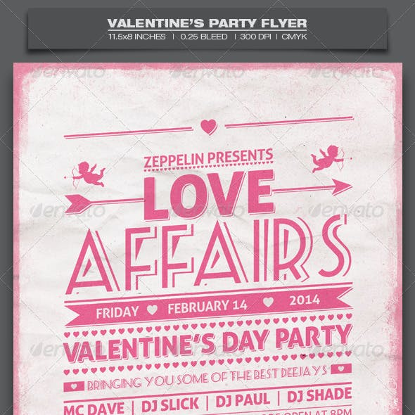 Valentine's Day Party - Event Flyer Template 7