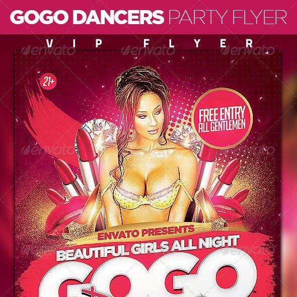 Gogo Dancers Party Flyer