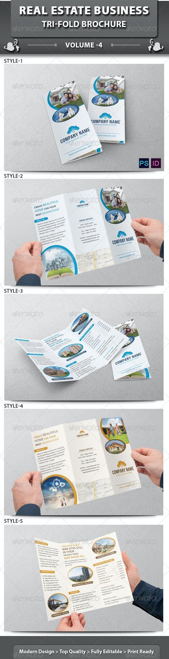 Real Estate Business Tri-fold Brochure | Volume 4 - Corporate Brochures