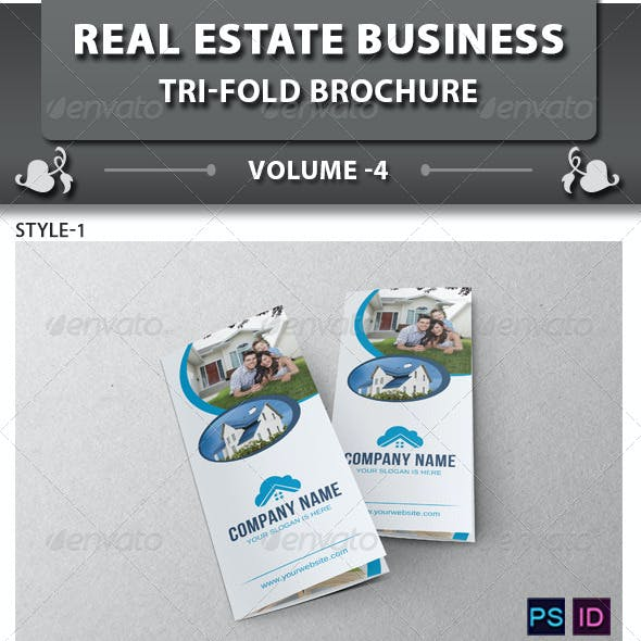 Real Estate Business Tri-fold Brochure | Volume 4