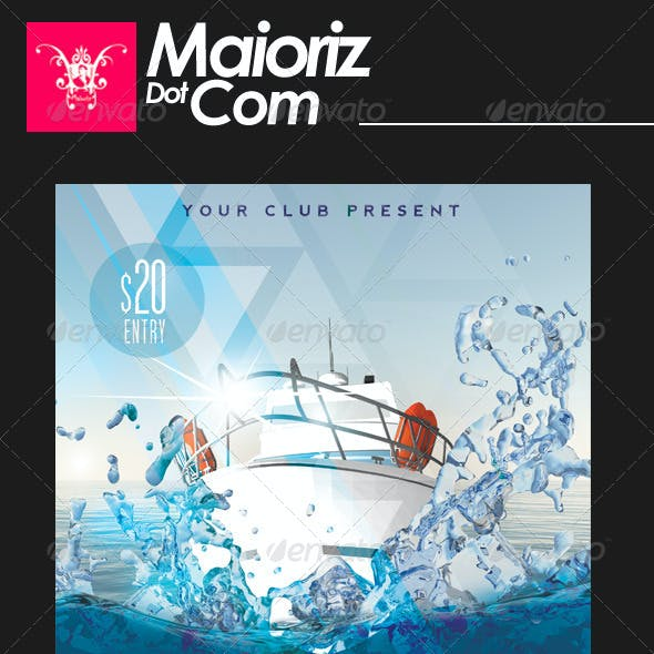 Yacht Party Flyer