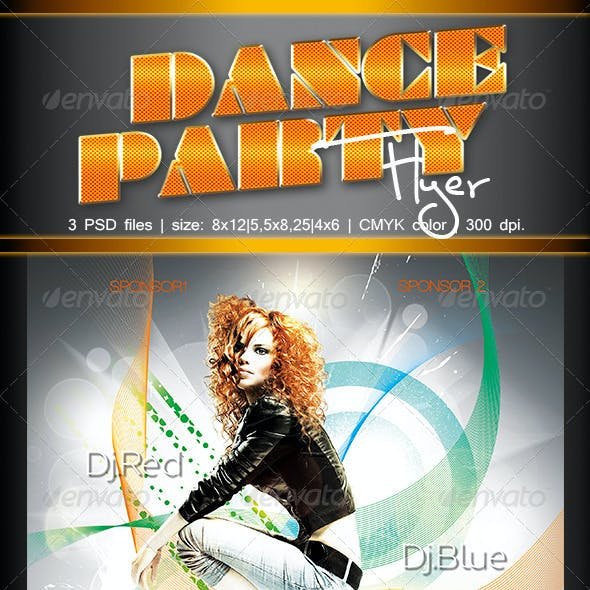 Dance Party Flyer 3