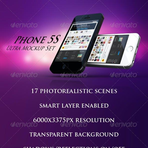 Phone 5S Ultra Mockup Set