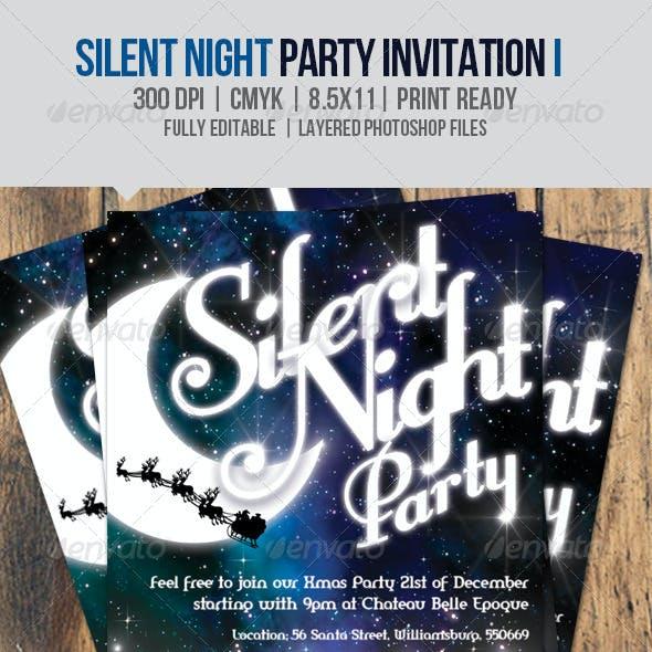 Silent Night Party Invitation