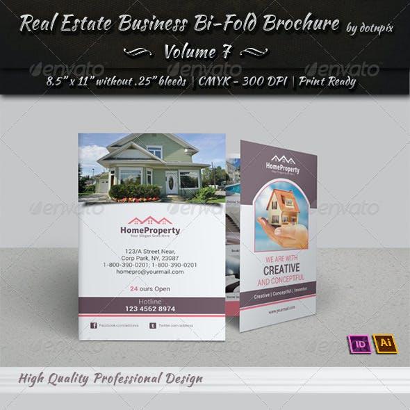 Real Estate Business  Bi-Fold Brochure | Volume 7