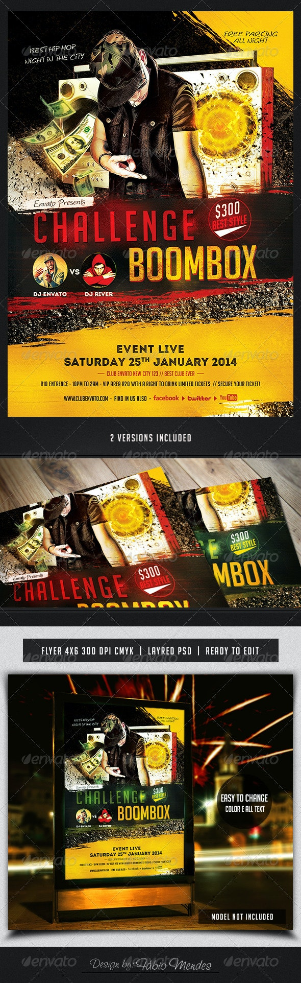 Challenge Boombox Flyer Template  - Flyers Print Templates