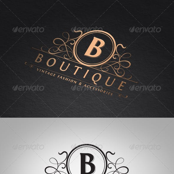 Vintage Boutique Logo Template