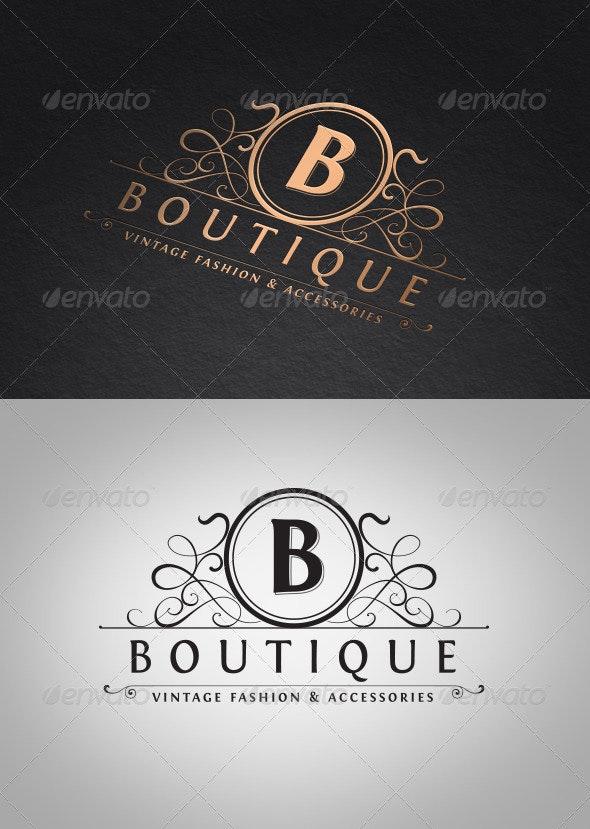 Vintage Boutique Logo Template - Crests Logo Templates