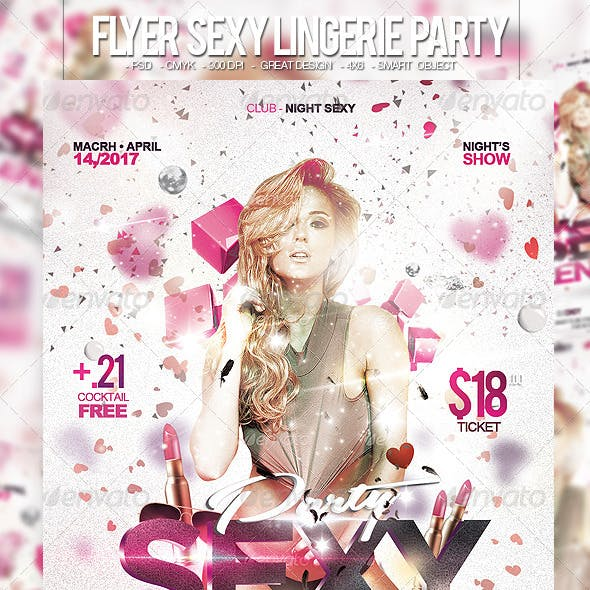 Flyer Sexy Lingerie Party