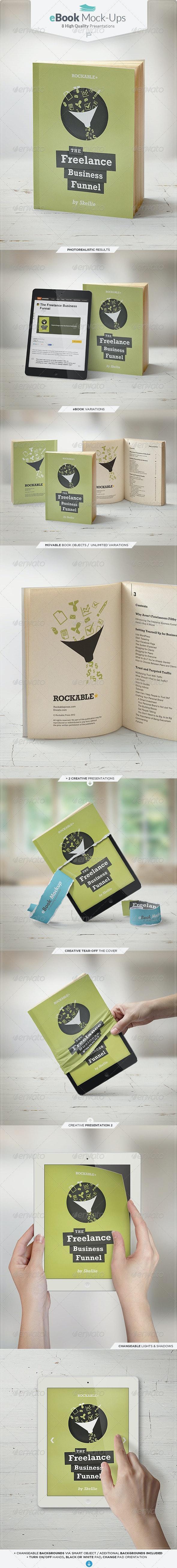 eBook Mock-Up Set - Books Print