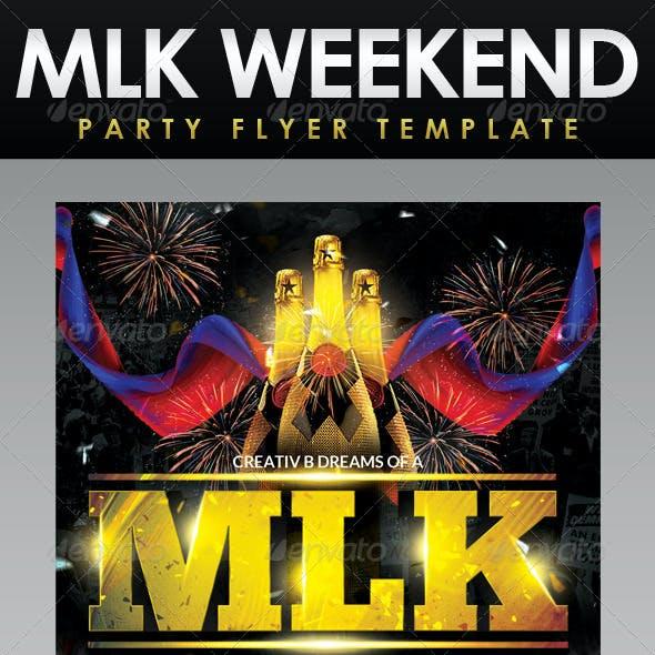 MLK Weekend Party Flyer Template