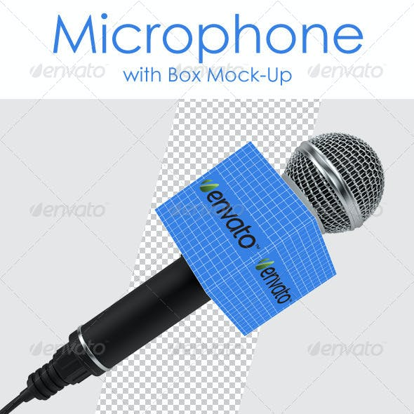 Microphone with Box Mock-Up