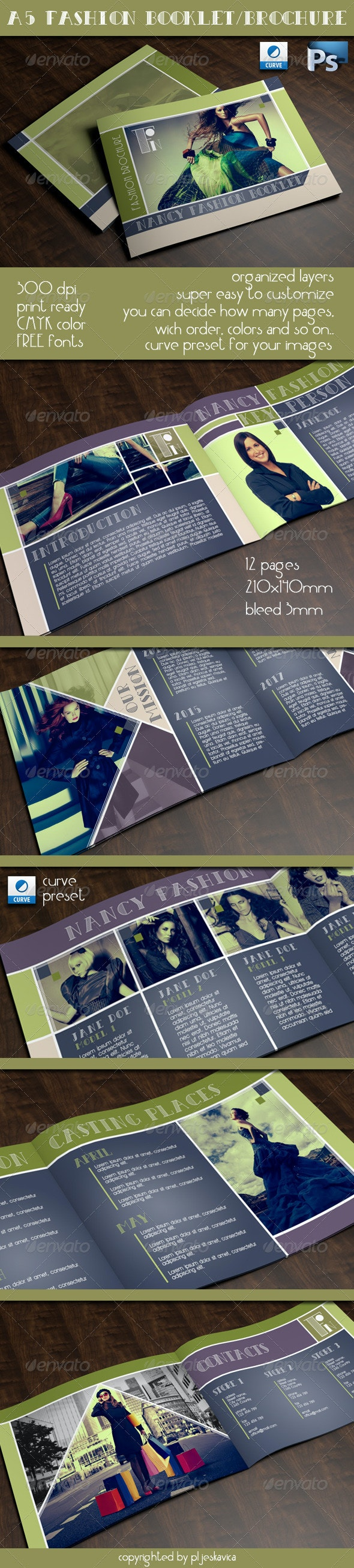 A5 Fashion Booklet / Brochure - Catalogs Brochures