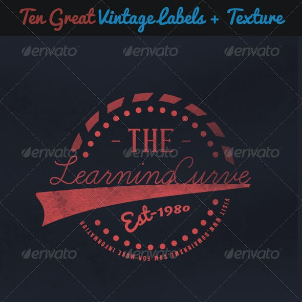 Ten Vintage Labels and Insignia