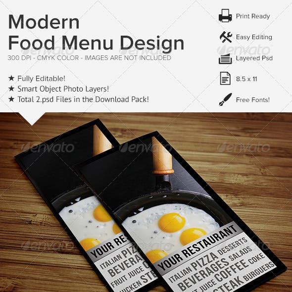 Modern Food Menu Design