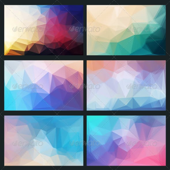 Vector Abstract Background in Style Flat