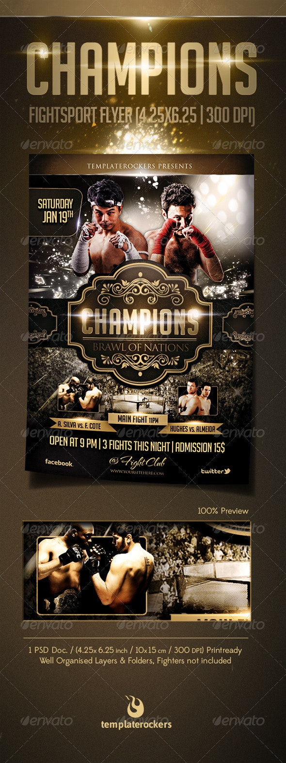 Champions Fightsport Flyer - Sports Events