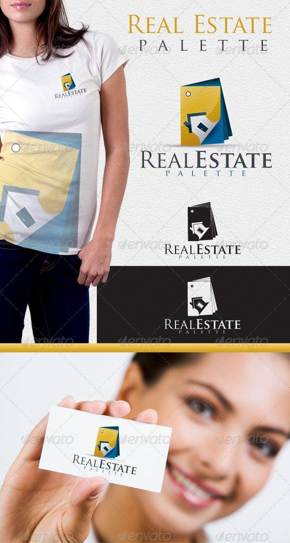 Real Estate Palette Logo - Buildings Logo Templates