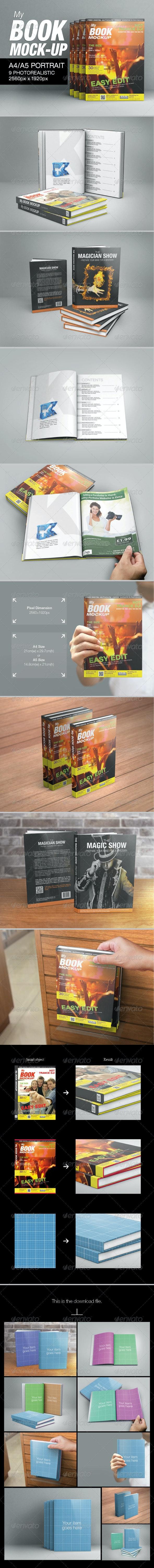 My Book A4 Mock-up - Books Print