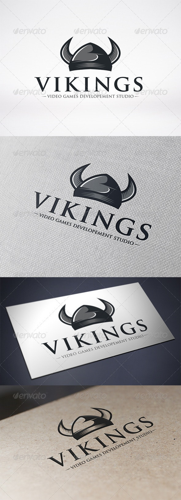Viking Helmet Logo Template by BossTwinsMusic | GraphicRiver