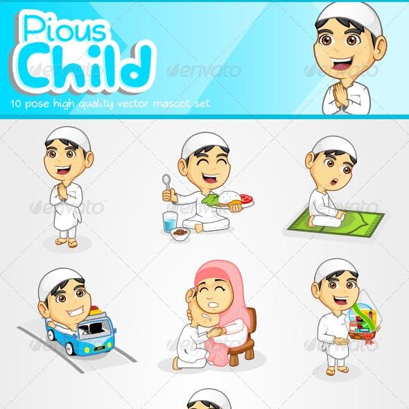 Pious Child Mascot Set