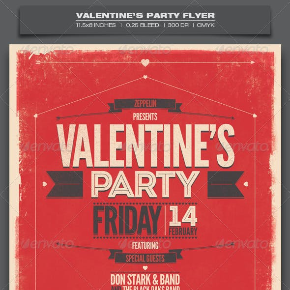 Valentine's Day Party - Event Flyer Template 8