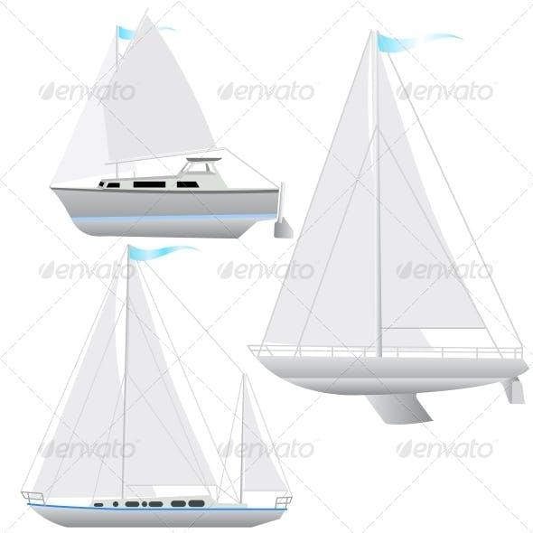 Sailing Boat Set