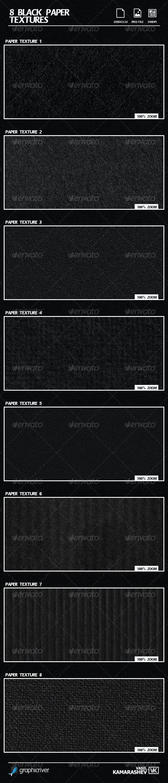 8 Black Paper Textures - Paper Textures