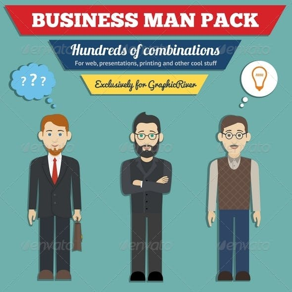 Business Man Characters Pack