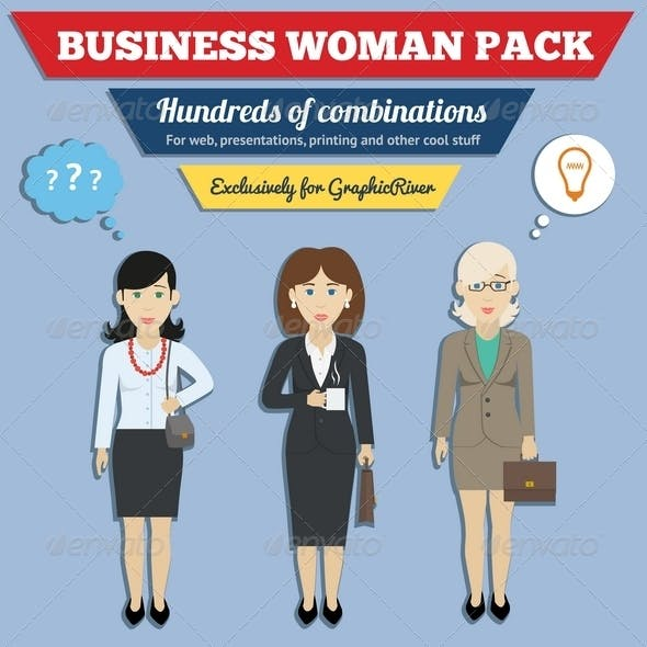 Business Woman Characters Pack