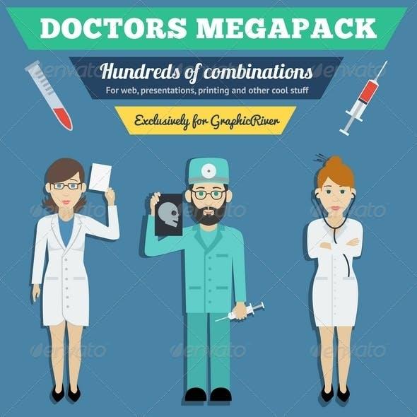 Medicine Doctors Characters Pack