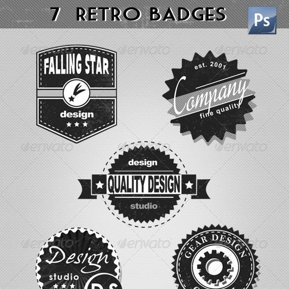 Retro Badges & Labels