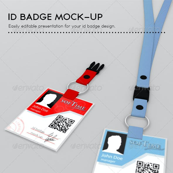 Id Badge Mock Up
