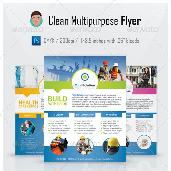 Clean Multipurpose Flyer PSD Template