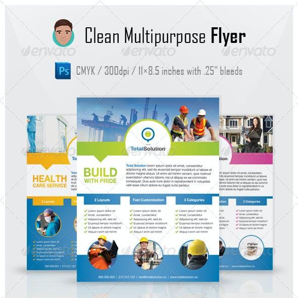 Clean Multipurpose Flyer PSD Template