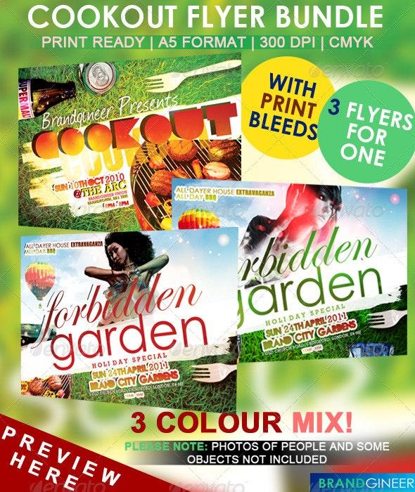 Cookout Flyer Set - Miscellaneous Events