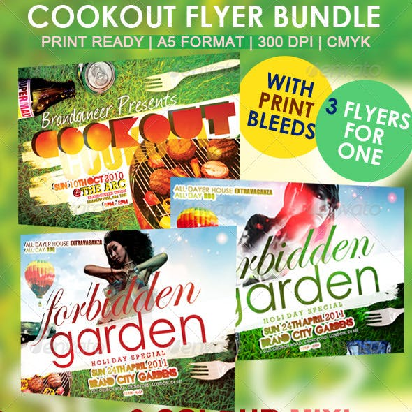 Cookout Flyer Set