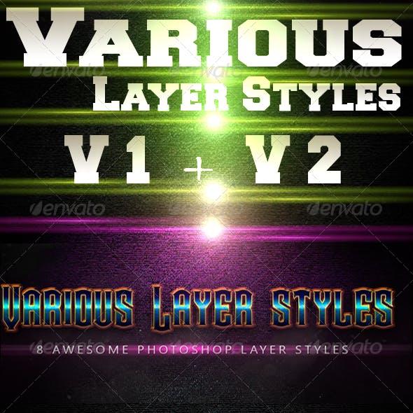 Bundle Various Layer styles