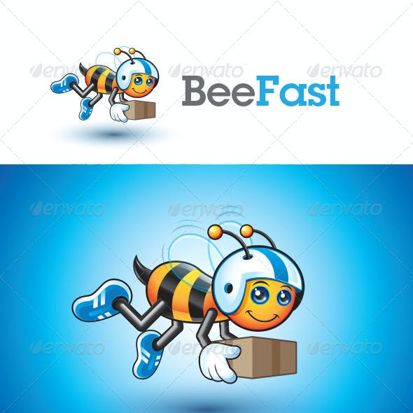 Fast Bee Logo Template