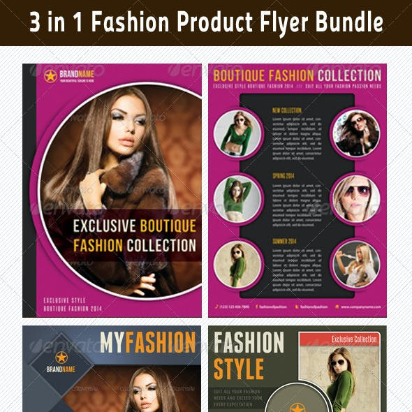 3 in 1 Fashion Product Flyer Bundle 07
