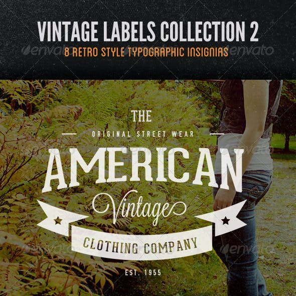 Vintage Labels and Logos Collection 2