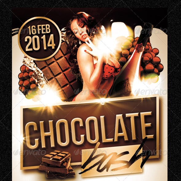 Chocolate Bash Party Flyer