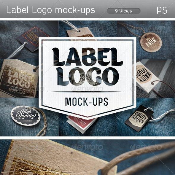 Label logo Mock-Ups