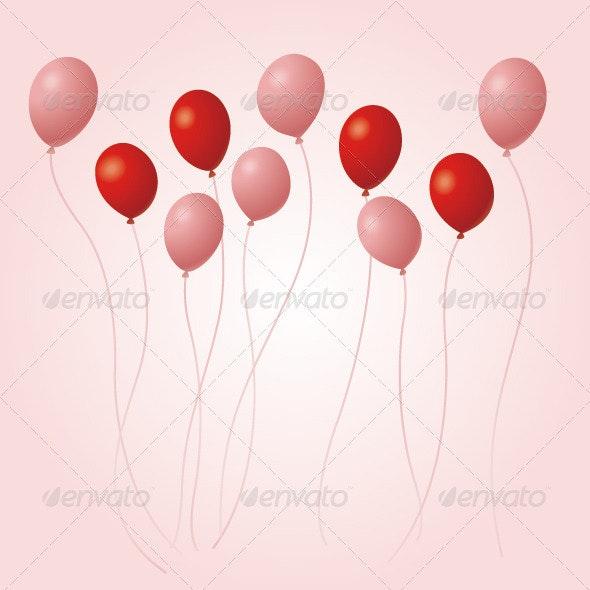 Balloon Card Design  - Seasons/Holidays Conceptual