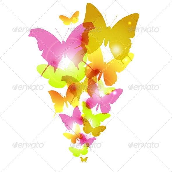 Watercolor Butterflies Design - Backgrounds Decorative
