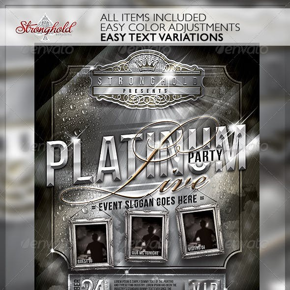 Platinum Live Party Flyer Template