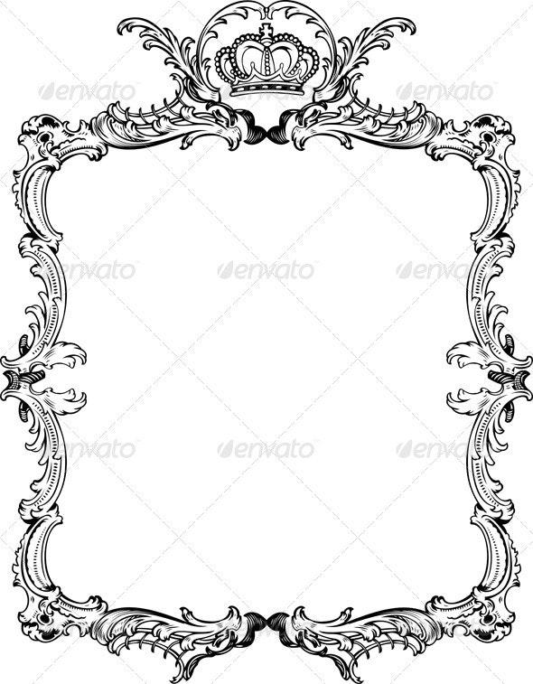 Decorative Vintage Ornate Frame. - Retro Technology