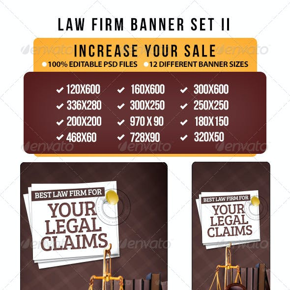 Law Firm Banner Set II