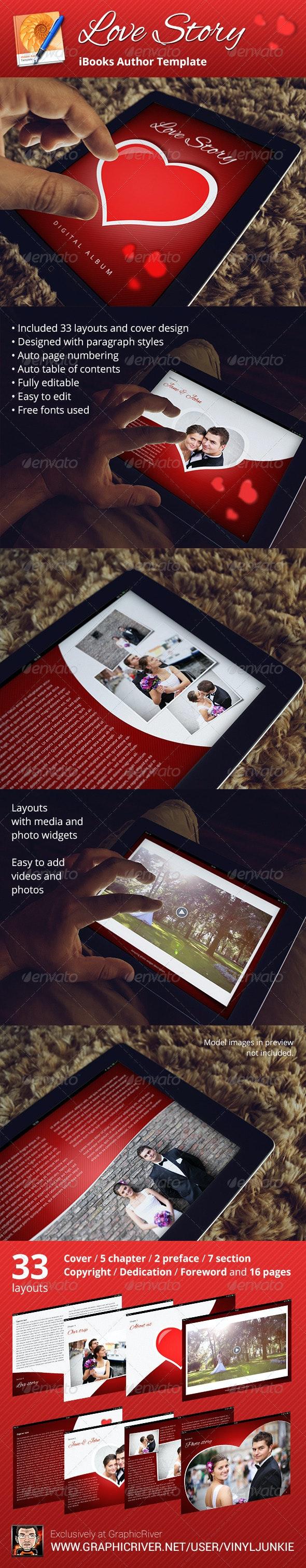Love Story Digital Album - iBooks Author Template - Digital Books ePublishing