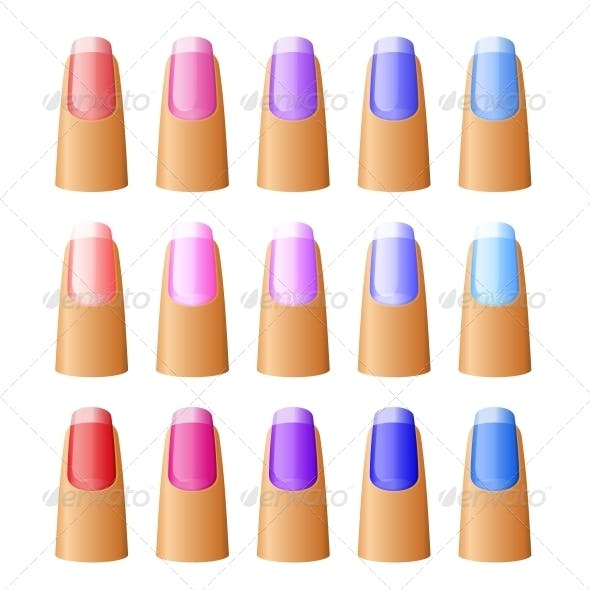 Nail Polish in Different Hues